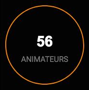56 animateurs