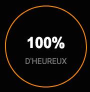 100% d'heureux
